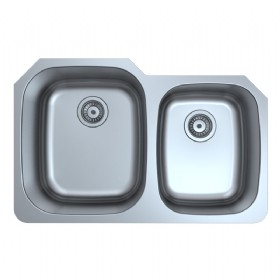 Double Bowl Kitchen Sink (Offset)
